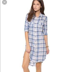 Free People plaid shirt dress